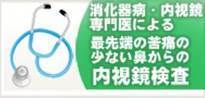 消化器病・内視鏡専門医による最先端の苦痛の少ない鼻からの内視鏡検査